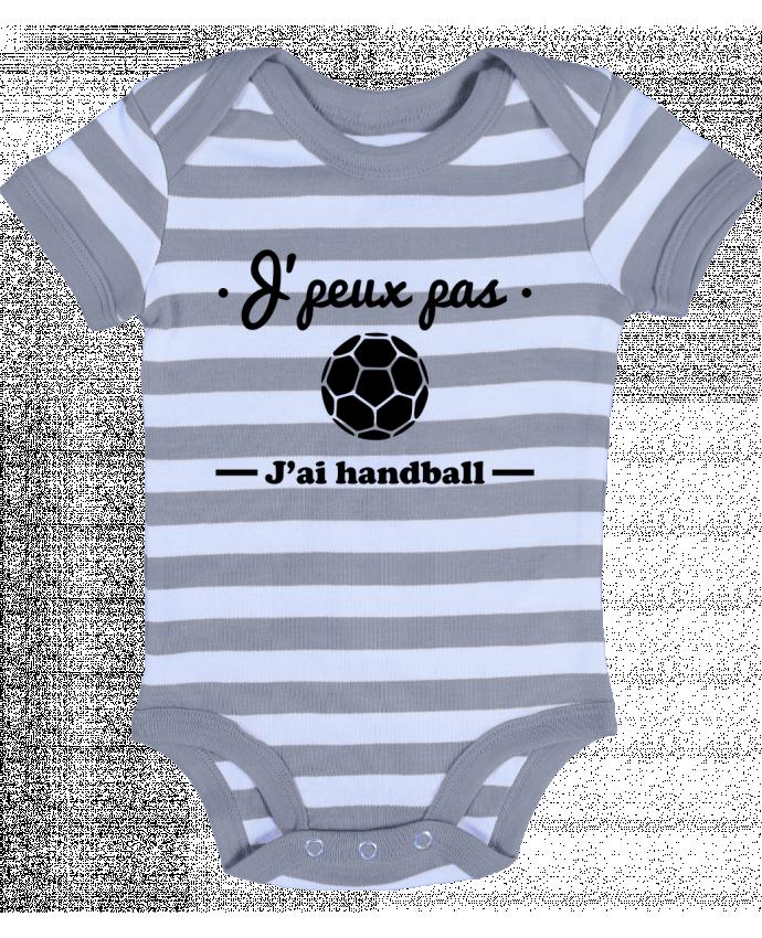 Body Bebé a Rayas J'peux pas j'ai handball ,  tee shirt handball, hand - Benichan