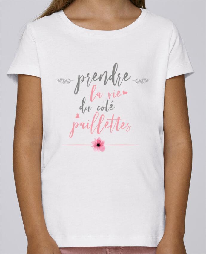 Camiseta Niña Stella Draws Prendre la vie du coté paillettes por tunetoo