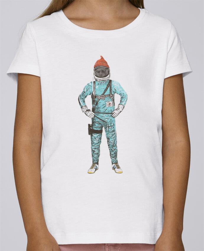 Camiseta Niña Stella Draws Zissou in space por Florent Bodart