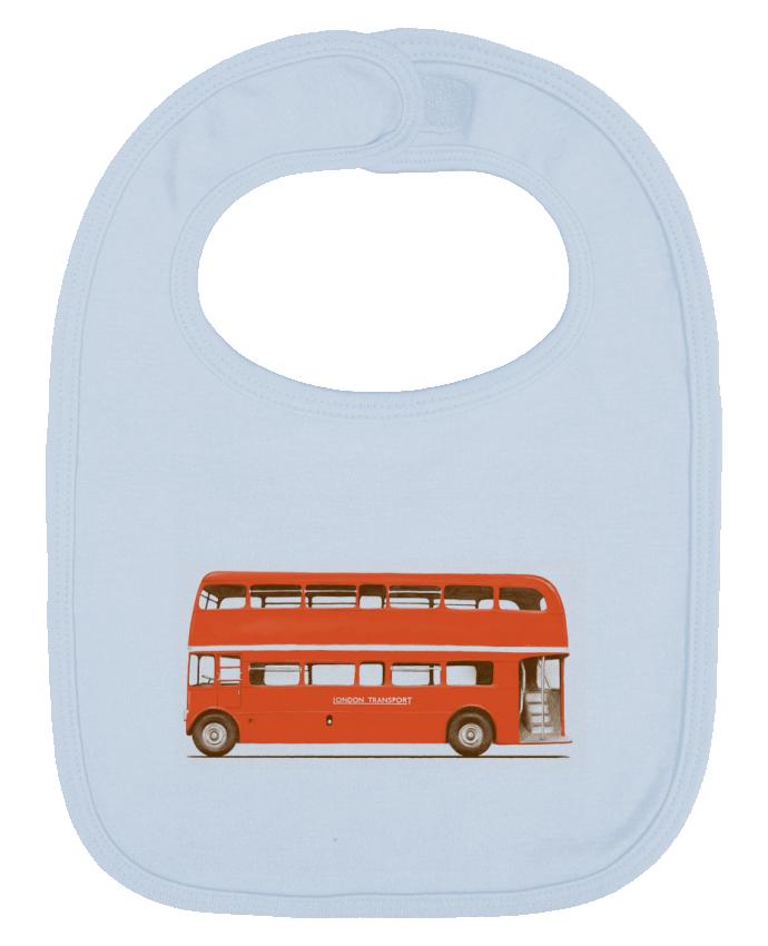 Babero Liso y Contrastado Red London Bus por Florent Bodart