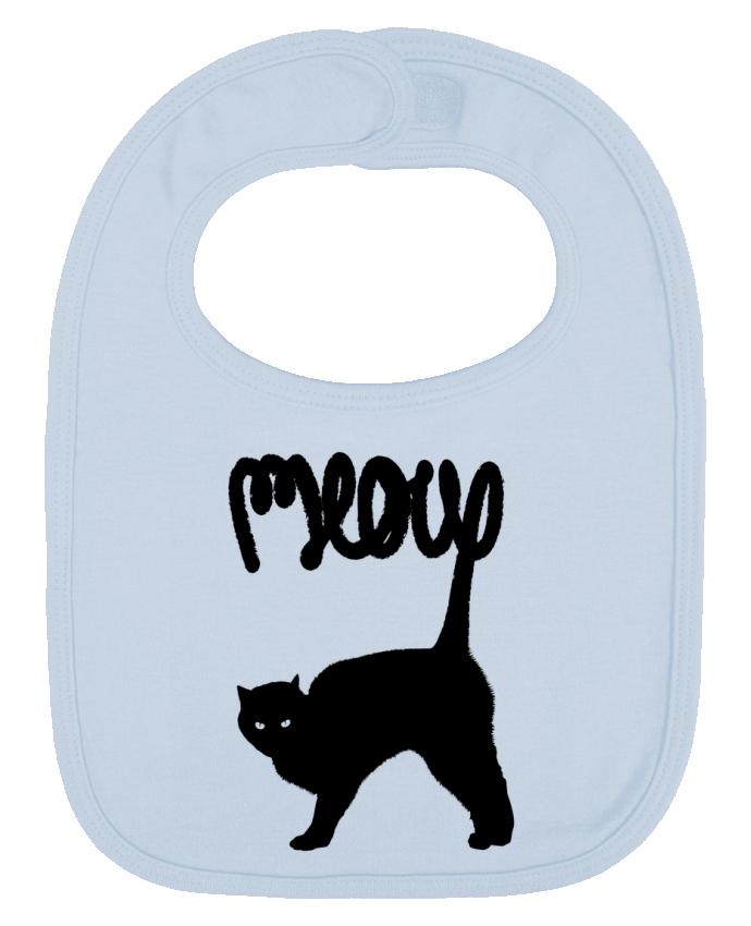 Babero Liso y Contrastado Meow por Florent Bodart