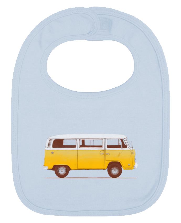 Babero Liso y Contrastado Yellow Van por Florent Bodart