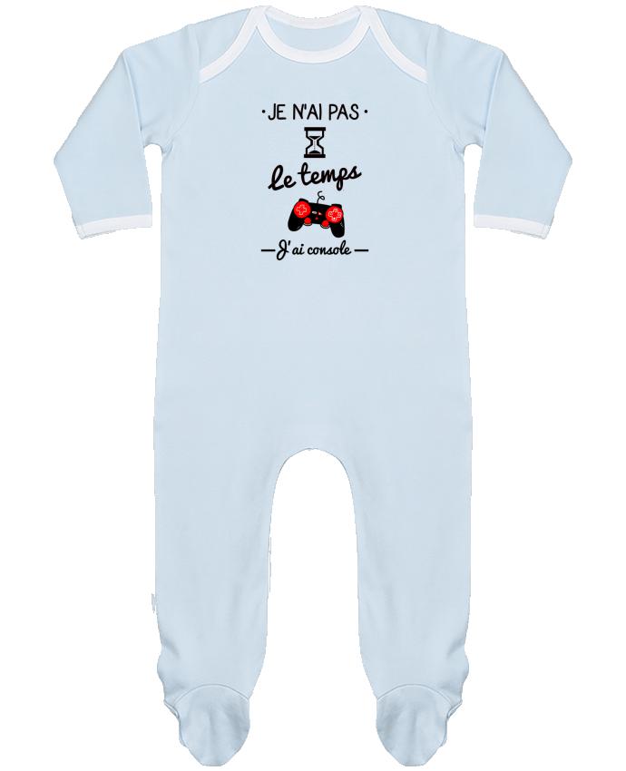 Pijama Bebé Manga Larga Contraste Pas le temps, j'ai console, tee shirt geek,gamer por Benichan