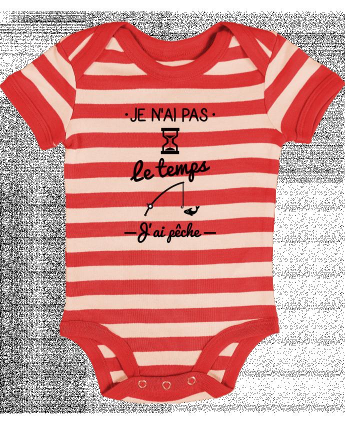 Body Bebé a Rayas Pas le temps j'ai pêche - Benichan
