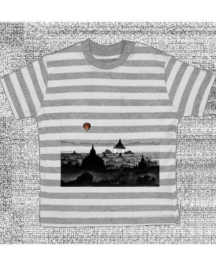 Camiseta Bebé a Rayas Aurora por Florent Bodart