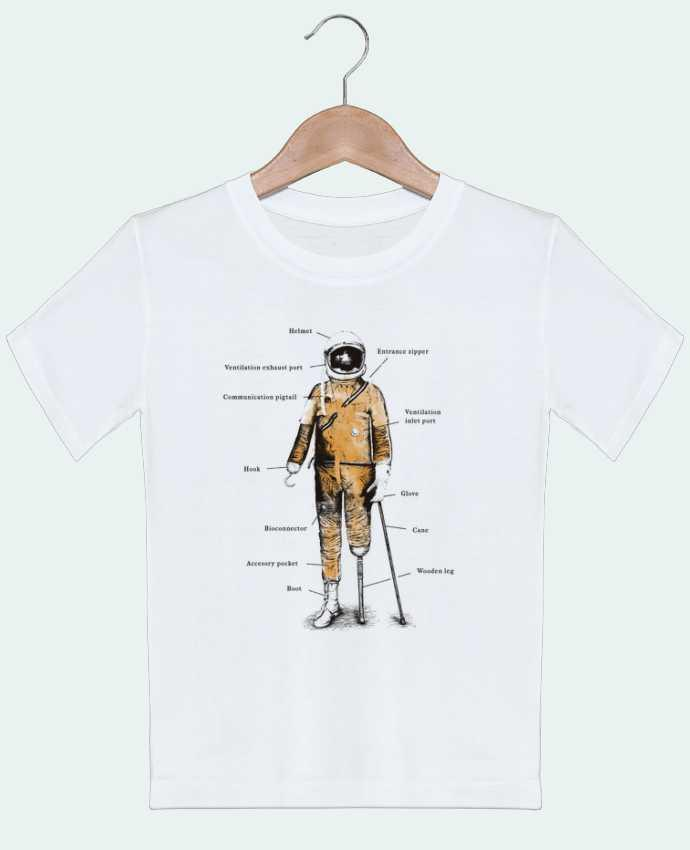 T-shirt garçon motif Astropirate with text Florent Bodart