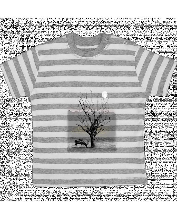 Camiseta Bebé a Rayas The view por Florent Bodart
