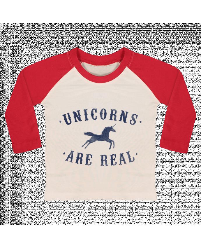 Camiseta Bebé Béisbol Manga Larga Unicorns are real por Florent Bodart