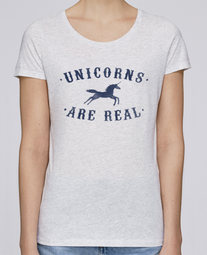 Camiseta Mujer Stellla Loves Unicorns are real por Florent Bodart