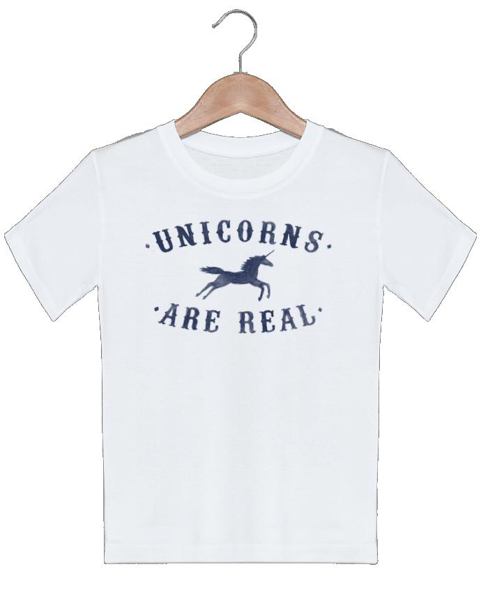 T-shirt garçon motif Unicorns are real Florent Bodart