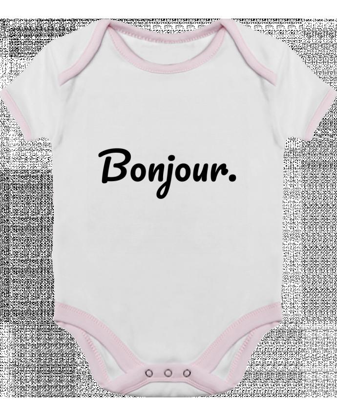 Body Bebé Contraste Bonjour. por tunetoo