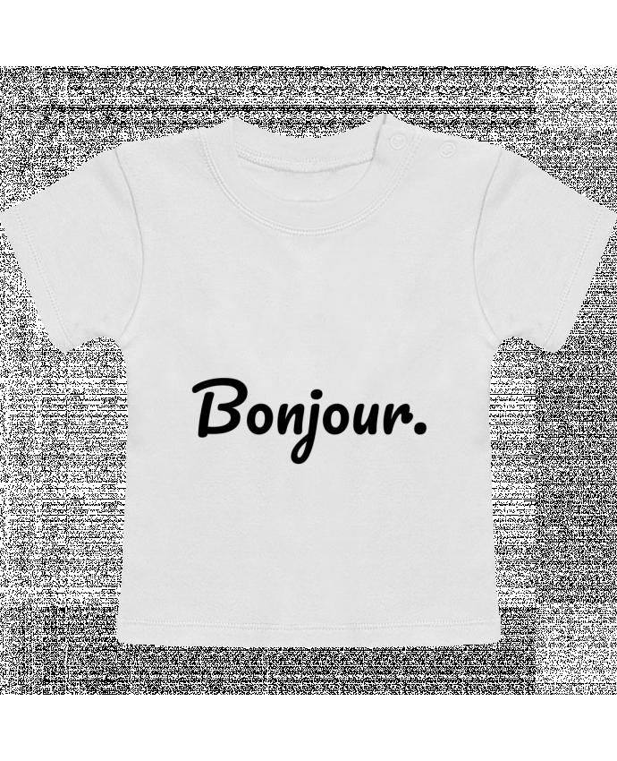 Camiseta Bebé Manga Corta Bonjour. manches courtes du designer tunetoo