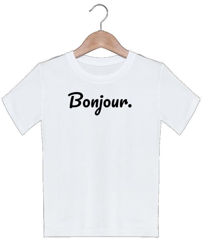 T-shirt garçon motif Bonjour. tunetoo