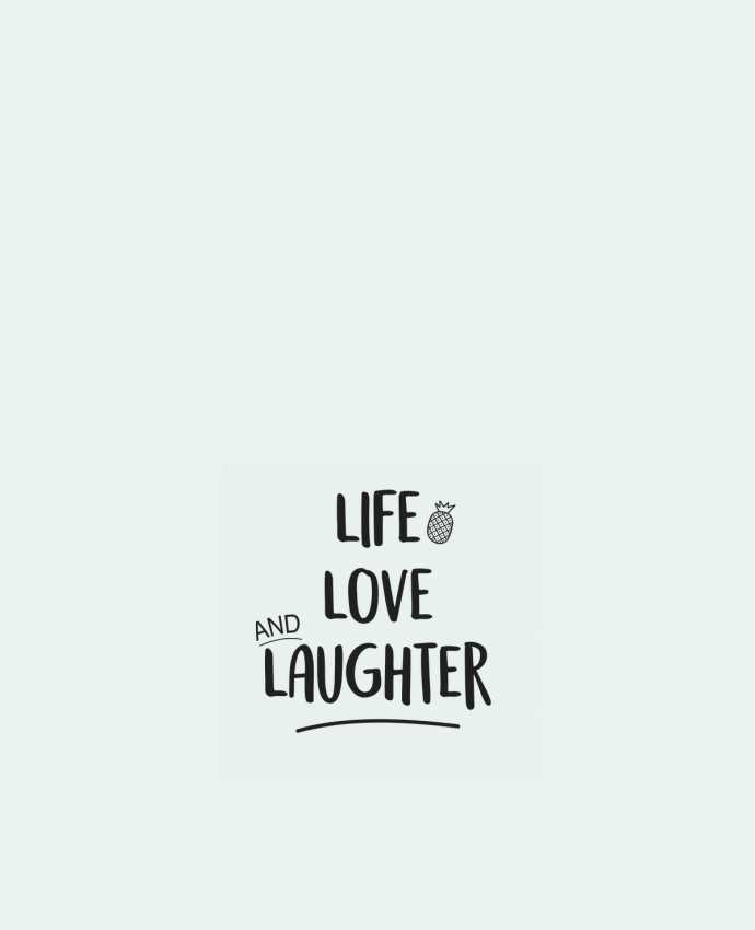 Bolsa de Tela de Algodón Life, love and laughter... por IDÉ'IN