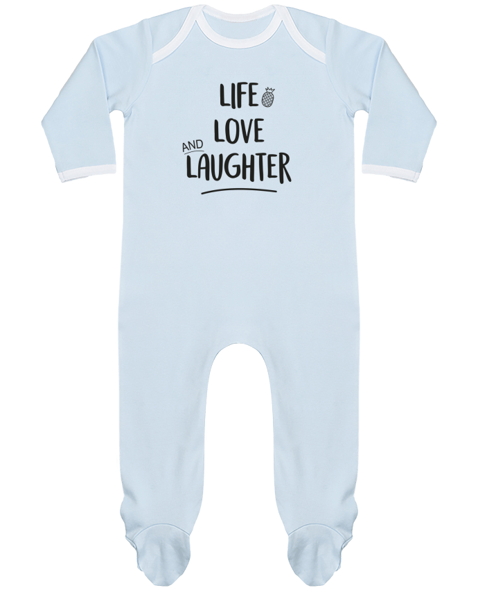 Pijama Bebé Manga Larga Contraste Life, love and laughter... por IDÉ'IN