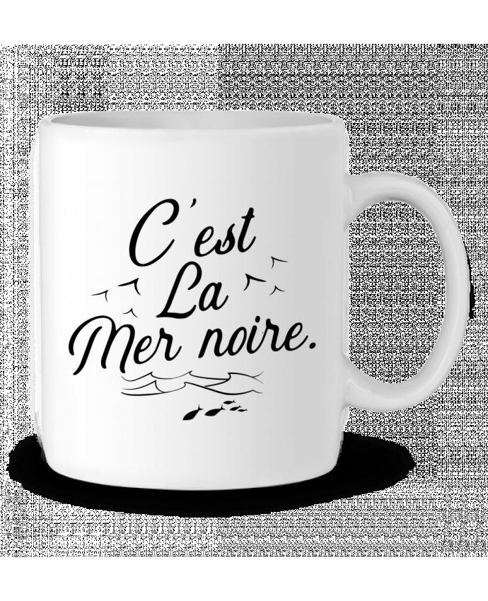 Taza Cerámica C'est la mer noire por Original t-shirt