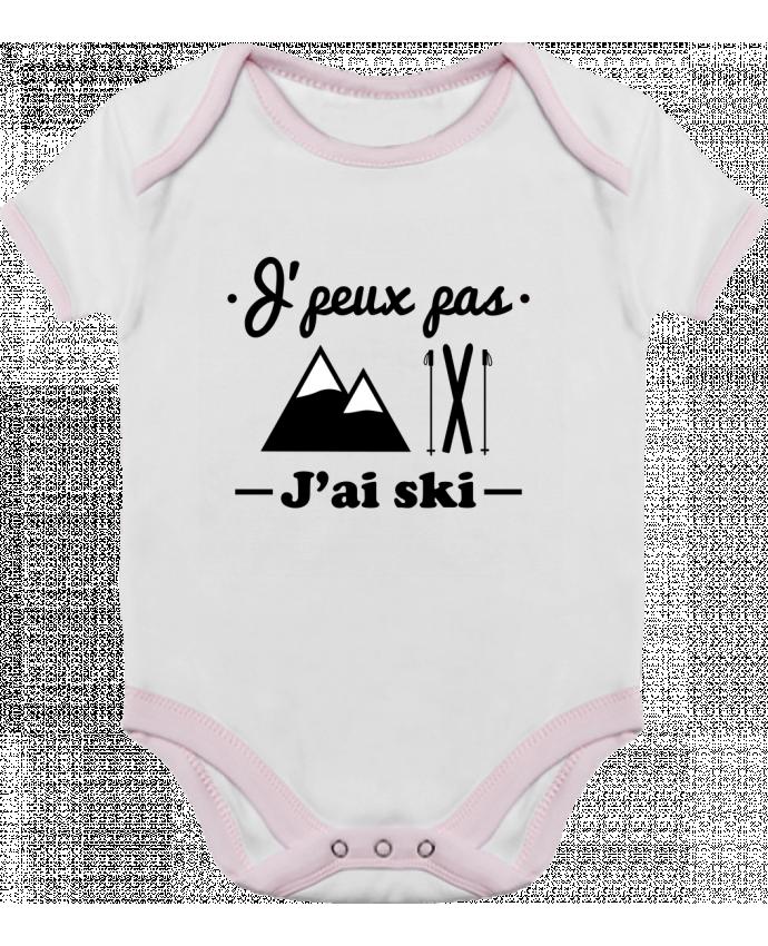 Body Bebé Contraste J'peux pas j'ai ski por Benichan