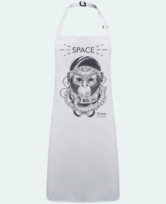 Delantal Sin Bolsillo Monkey space por  Mauvaise Graine