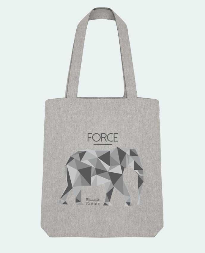 Bolsa de Tela Stanley Stella Force elephant origami por Mauvaise Graine