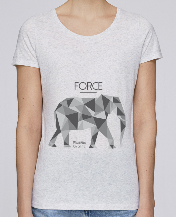 Camiseta Mujer Stellla Loves Force elephant origami por Mauvaise Graine