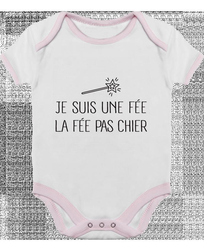 Body Bebé Contraste Je suis une fée la fée pas chier por Freeyourshirt.com