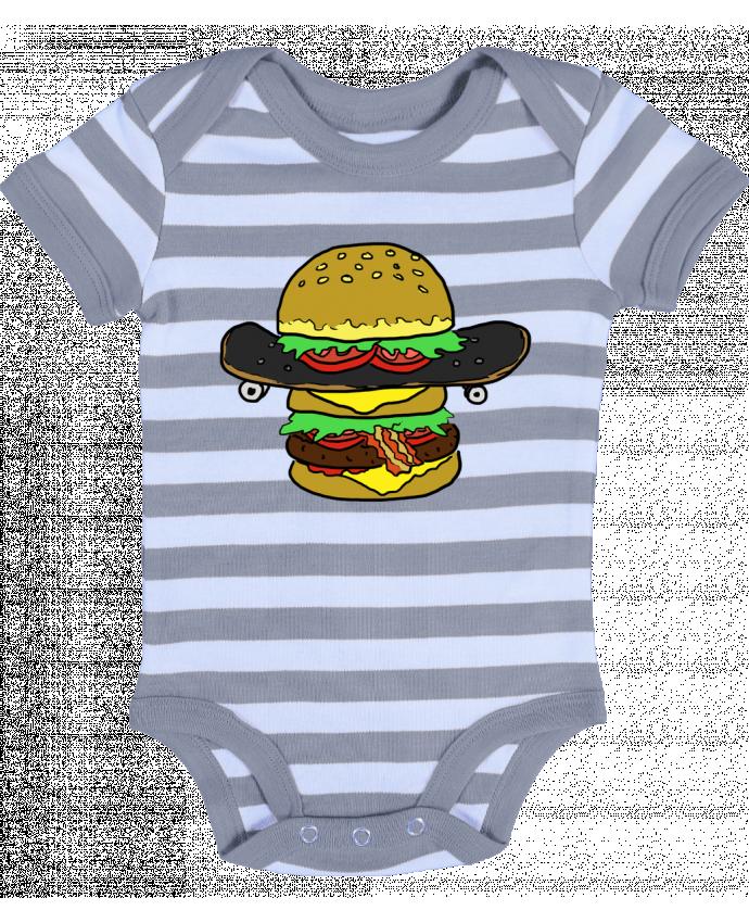 Body Bebé a Rayas Skateburger - Salade