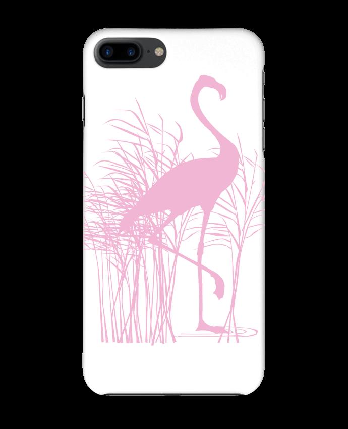 Carcasa Iphone 7+ Flamant rose dans roseaux por Studiolupi