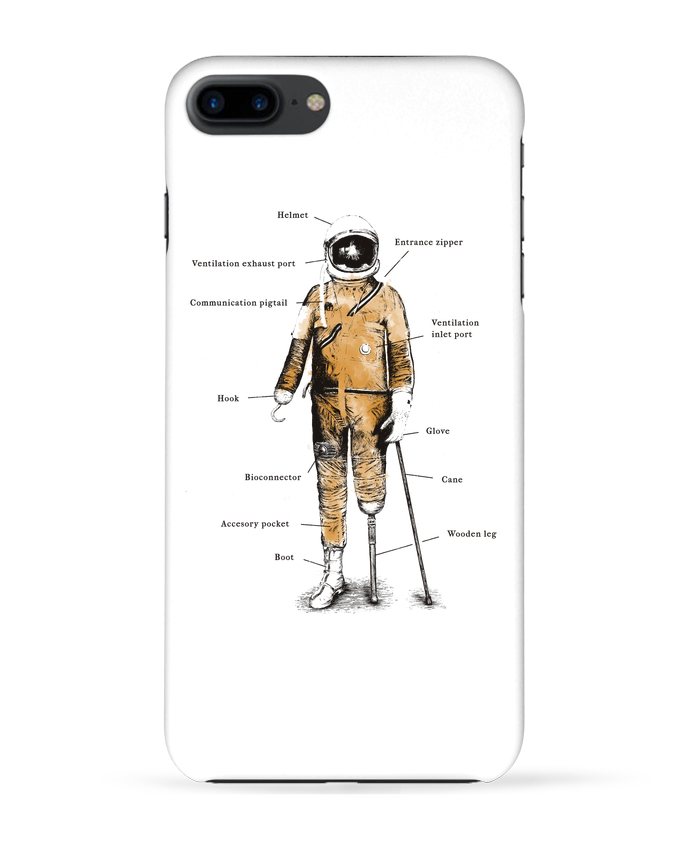 Carcasa Iphone 7+ Astropirate with text por Florent Bodart