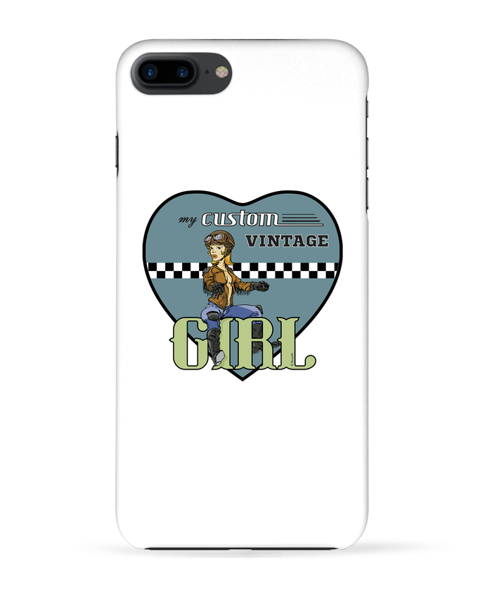 Carcasa Iphone 7+ My custom vintage girl por BRUZEFH