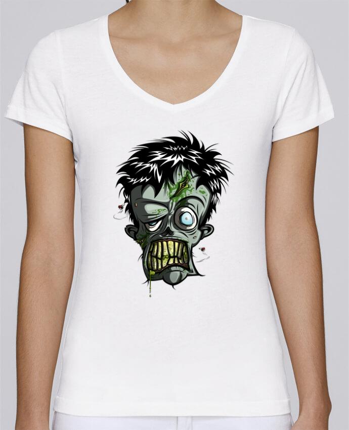 Camiseta Mujer Cuello en V Stella Chooses Toxic Zombie por SirCostas