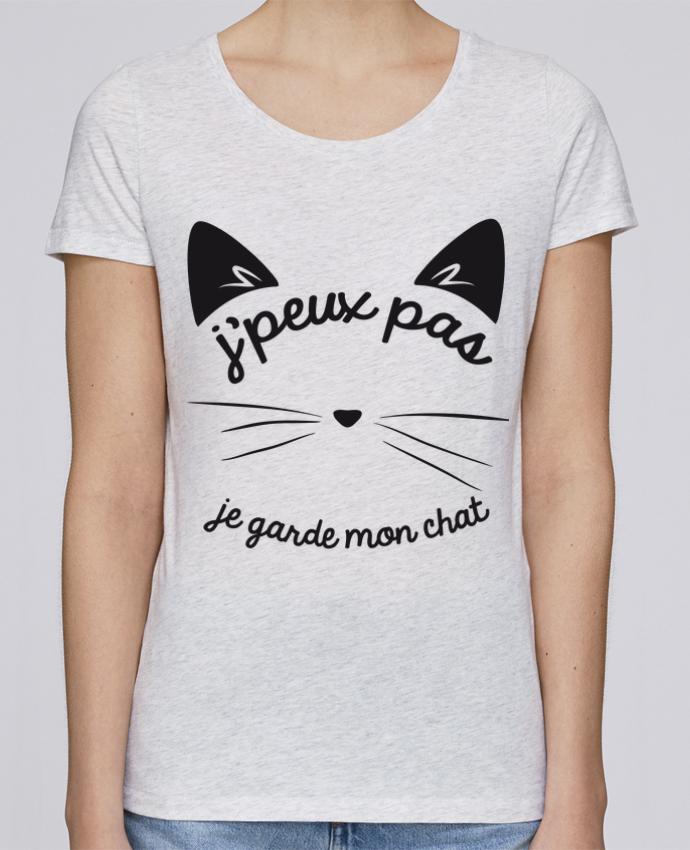 Camiseta Mujer Stellla Loves Je peux pas je garde mon chat por FRENCHUP-MAYO