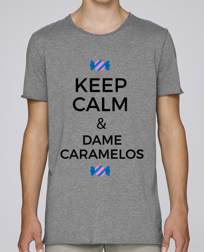 Camiseta Hombre Tallas Grandes Stanly Skates Keep Calm and Dame Caramelos por tunetoo