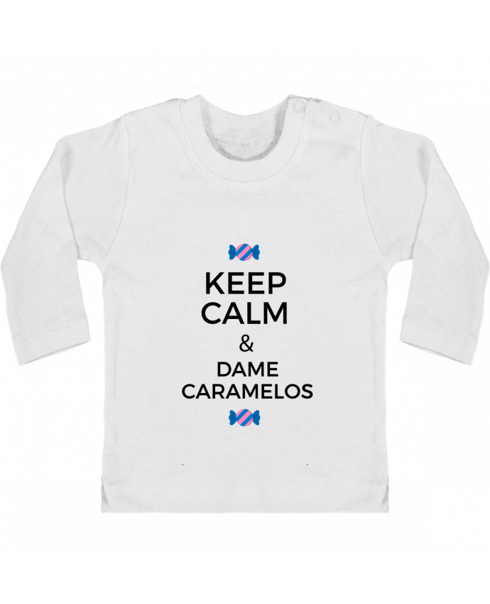 Camiseta Bebé Manga Larga con Botones  Keep Calm and Dame Caramelos manches longues du designer tunetoo