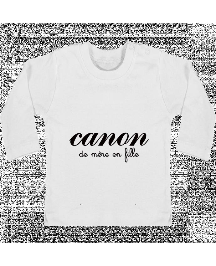Camiseta Bebé Manga Larga con Botones  Canon de mère en fille manches longues du designer Freeyourshirt.com
