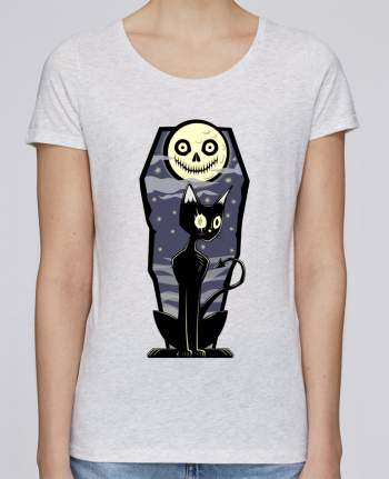 Camiseta Mujer Stellla Loves Coffin Cat por SirCostas