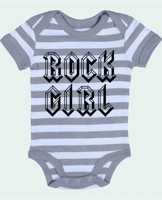 Body Bebé a Rayas Rock Girl - Freeyourshirt.com