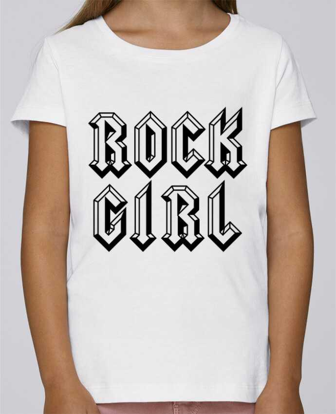 Camiseta Niña Stella Draws Rock Girl por Freeyourshirt.com