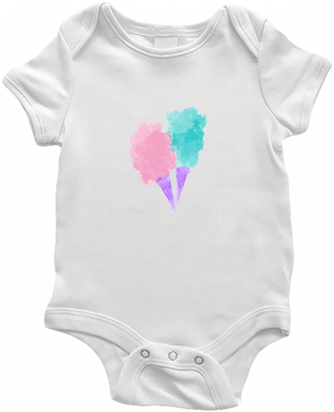 Body Bebé Watercolor Cotton Candy por PinkGlitter