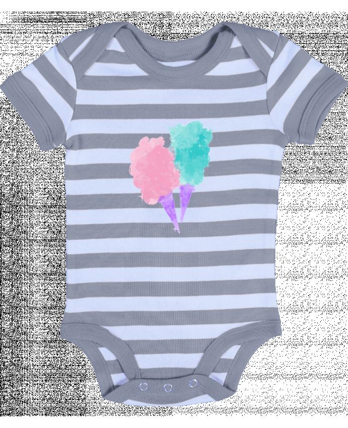 Body Bebé a Rayas Watercolor Cotton Candy - PinkGlitter