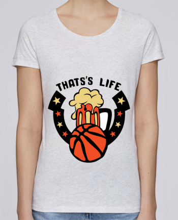 Camiseta Mujer Stellla Loves basketball biere citation thats s life message por Achille