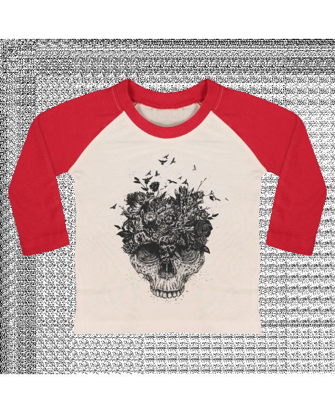 Camiseta Bebé Béisbol Manga Larga My head is a jungle por Balàzs Solti