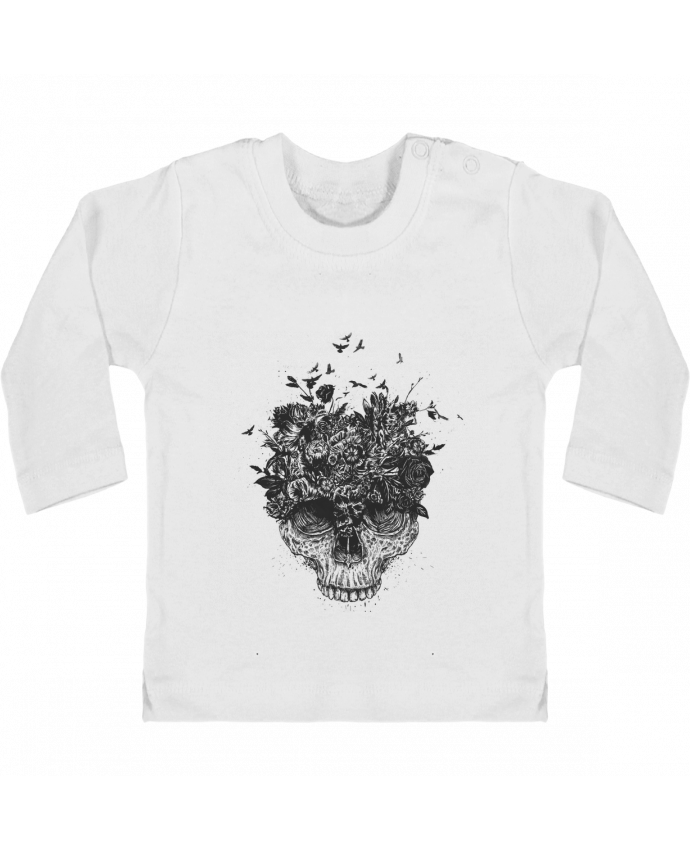 Camiseta Bebé Manga Larga con Botones  My head is a jungle manches longues du designer Balàzs Solti