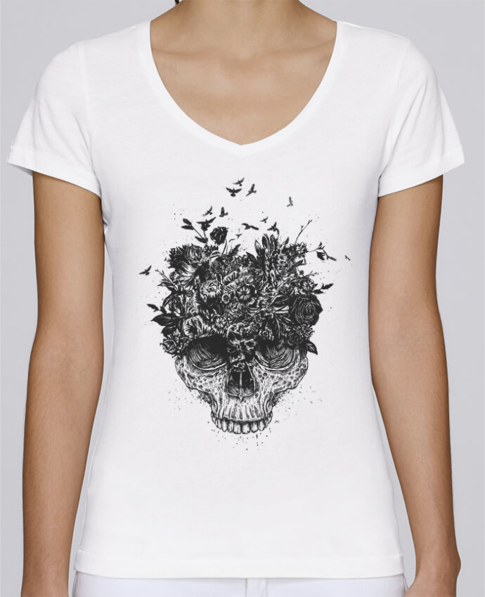 Camiseta Mujer Cuello en V Stella Chooses My head is a jungle por Balàzs Solti