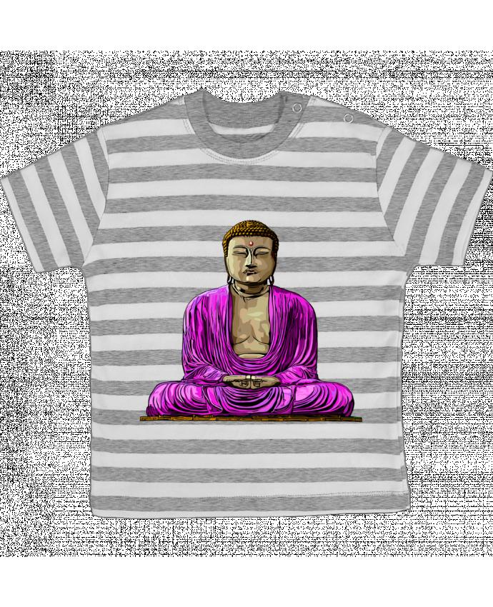 Camiseta Bebé a Rayas Bouddha Pop por Numartis