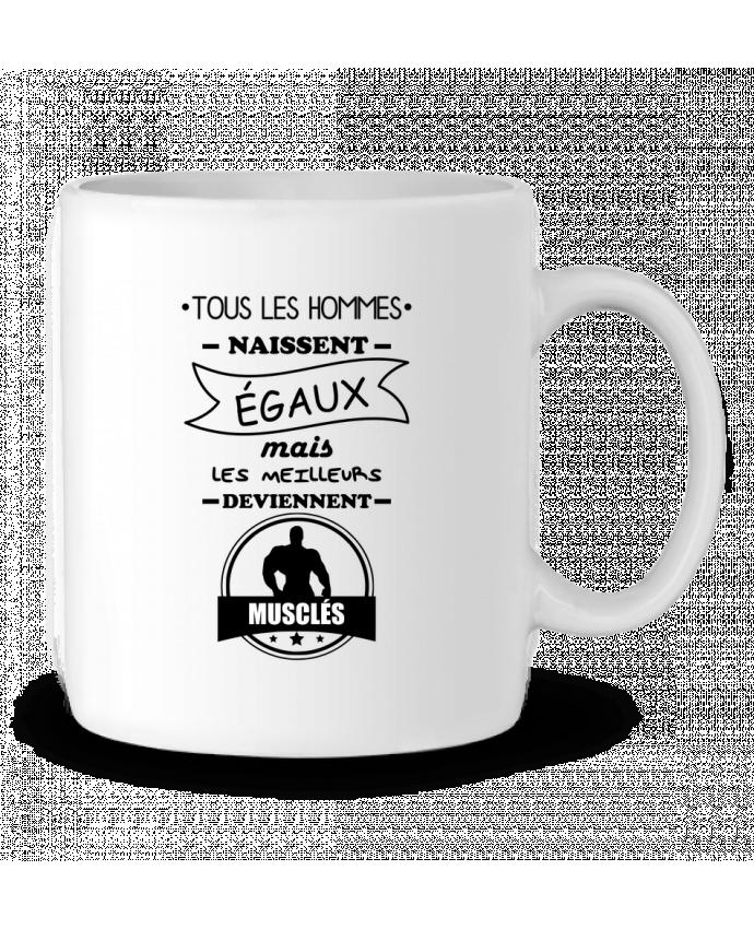 Taza Cerámica Tous les hommes naissent égaux mais les meilleurs deviennent musclés, musclé, musculation por B