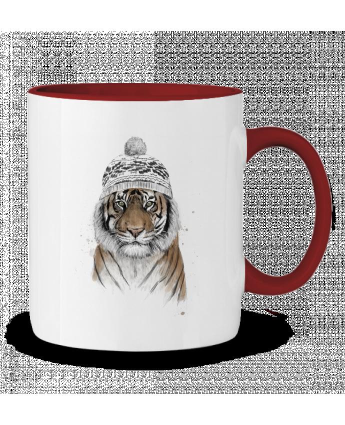 Taza Cerámica Bicolor Siberian tiger Balàzs Solti
