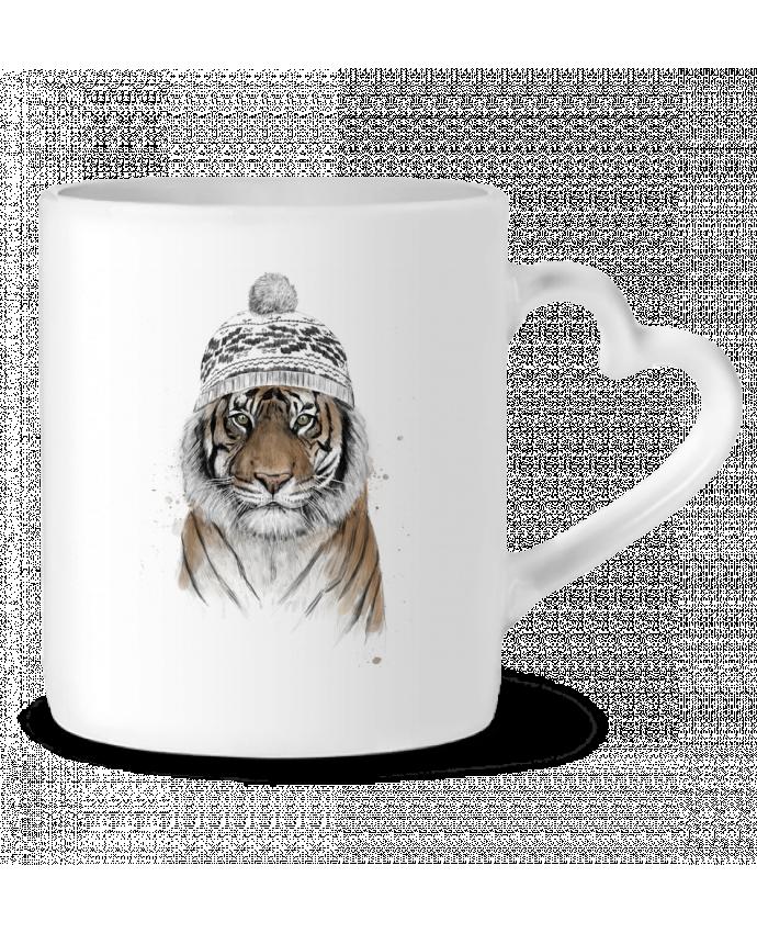 Taza Corazón Siberian tiger por Balàzs Solti