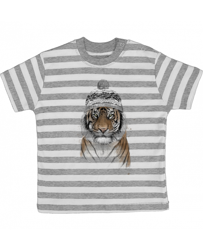 Camiseta Bebé a Rayas Siberian tiger por Balàzs Solti