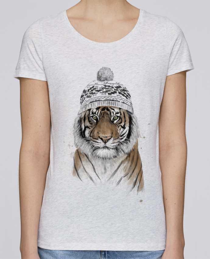 Camiseta Mujer Stellla Loves Siberian tiger por Balàzs Solti