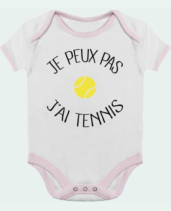 Body Bebé Contraste Je peux pas j'ai Tennis por Freeyourshirt.com